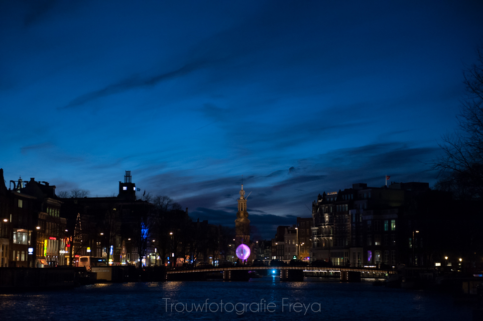 Amsterdam Light Festival Munt toren