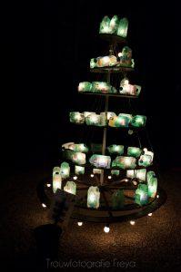 Amsterdam Light Festival kerstboom recycled