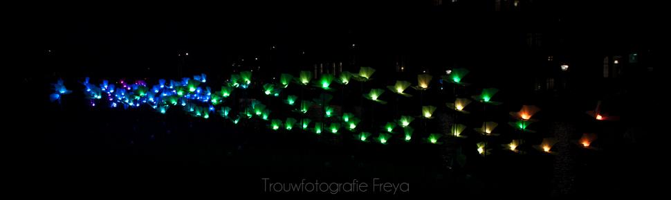 Amsterdam Light Festival vlinder lampjes regenboog