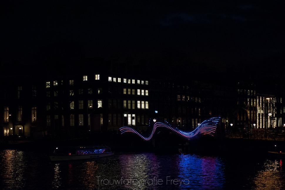 Amsterdam Light Festival wave bridge 2