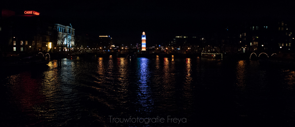Amsterdam Light Festival vuurtoren
