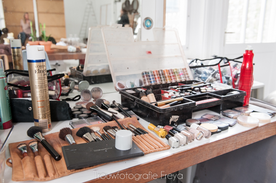 make-up voor foto shoot Margriet Amsterdam