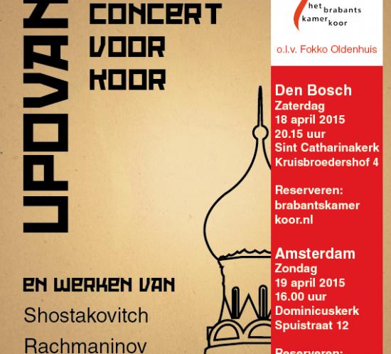 Hollands vocaal ensemble zingt russisch programma