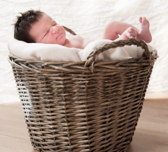 Newborn Shoot Robin baby in mand