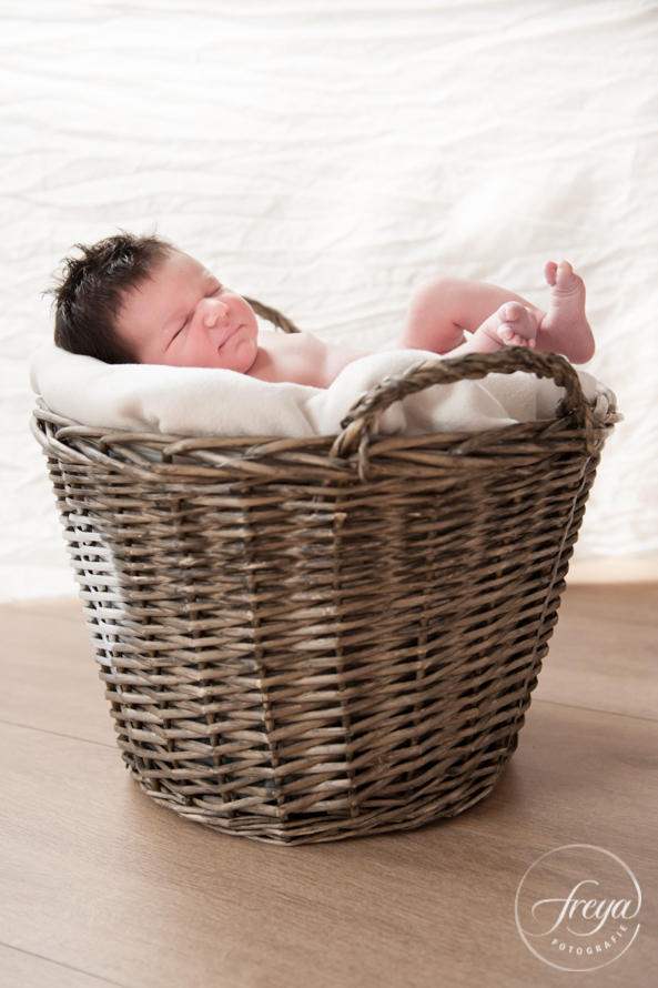 Newborn Shoot Robin baby in mand