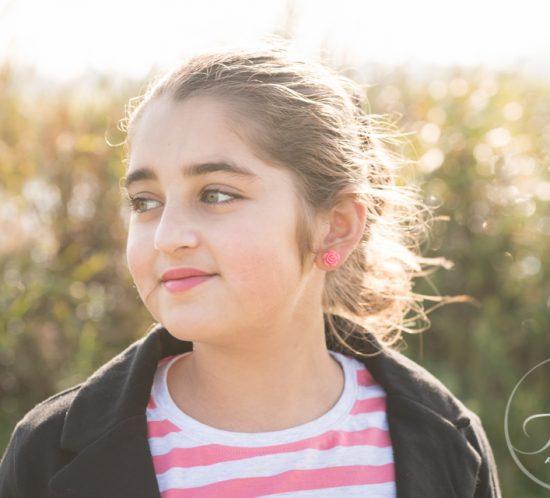 Meisje met de zon in haar haren