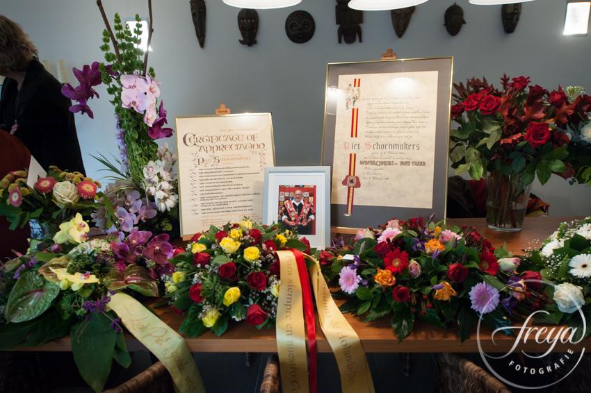 Uitvaart Brabant - bloemen en foto overledene