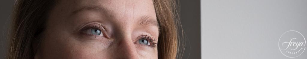 helder blauwe ogen