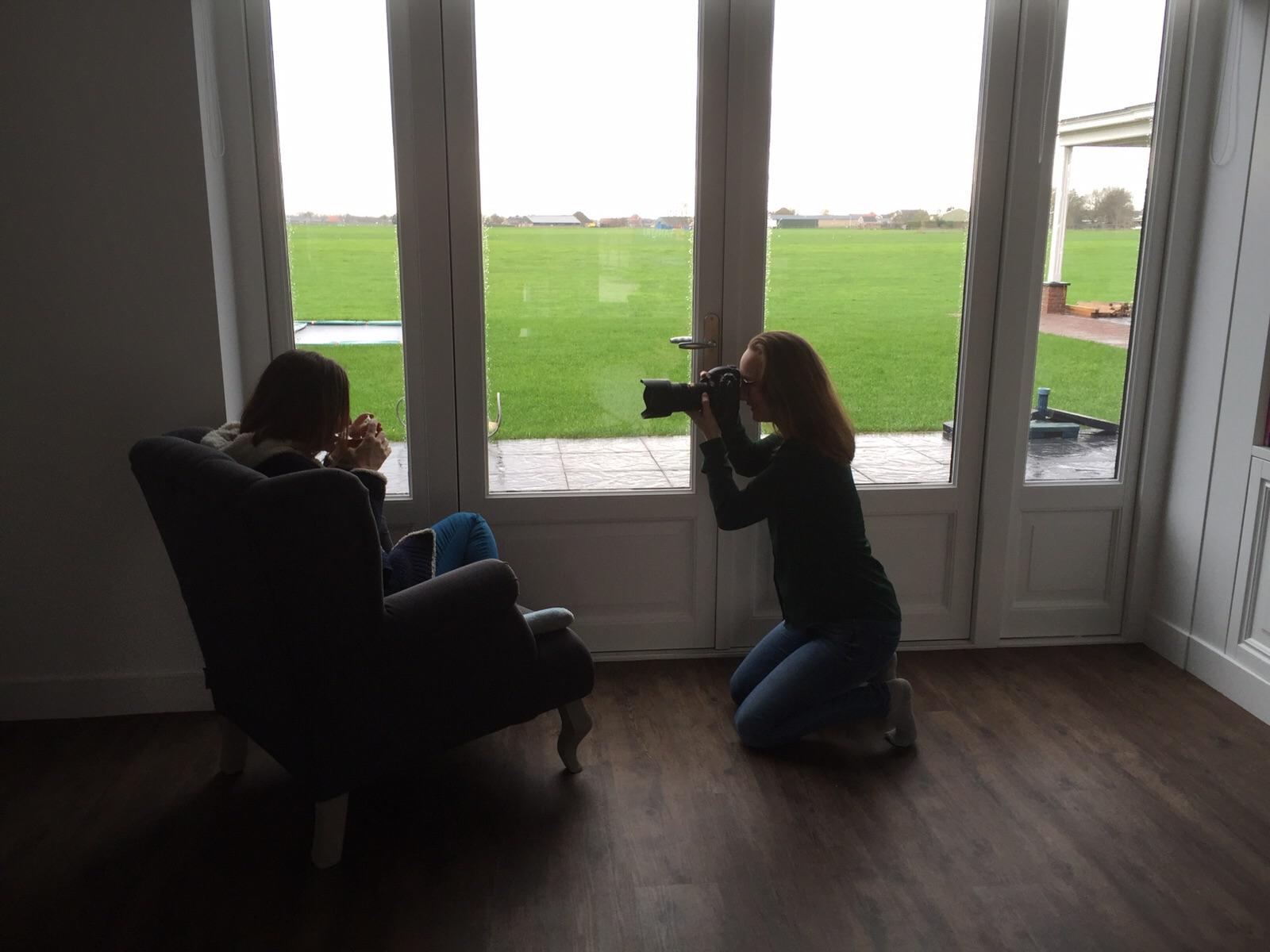 Charlène fotografeert Freya