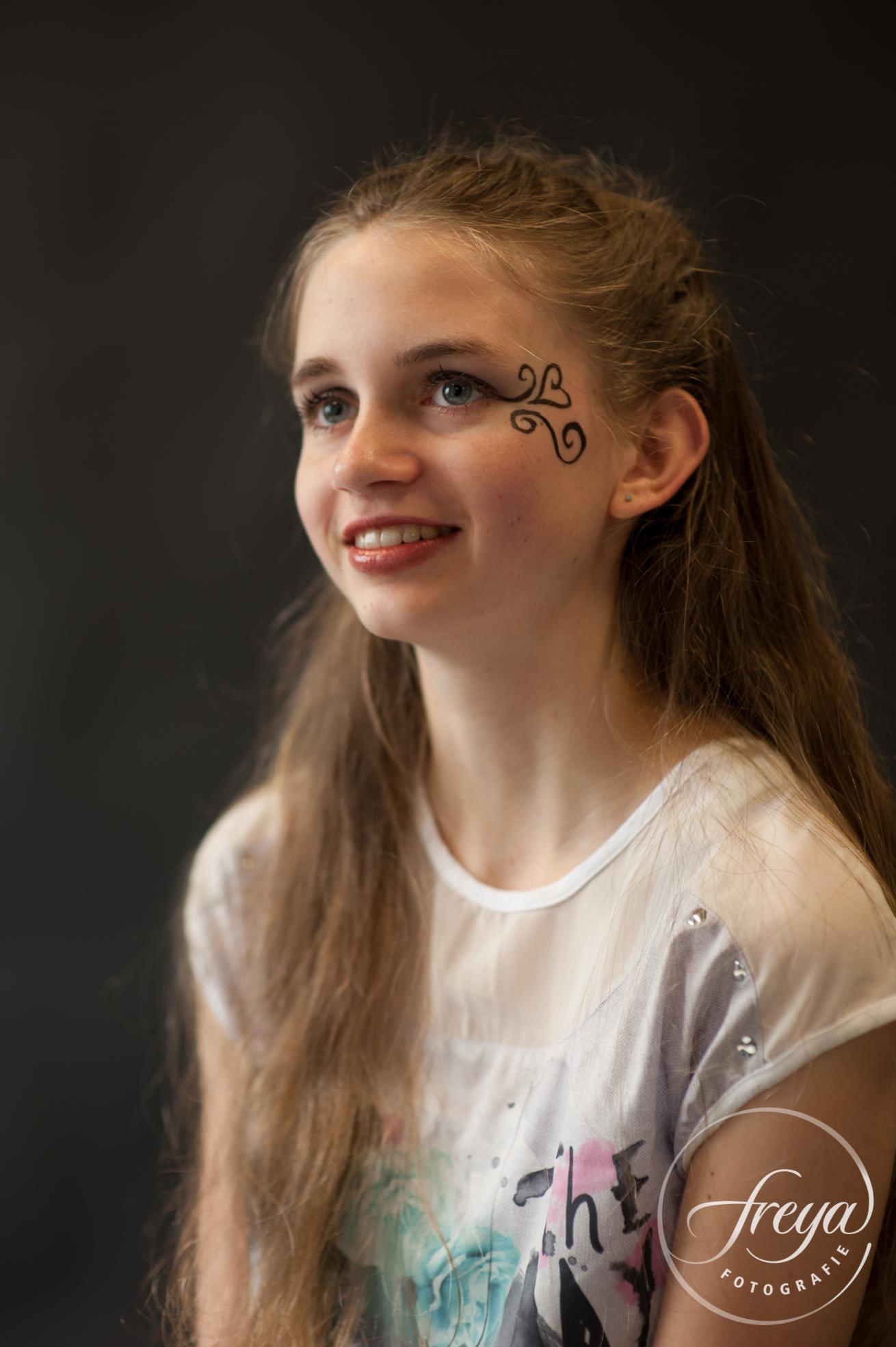 studio portret tiener meisje