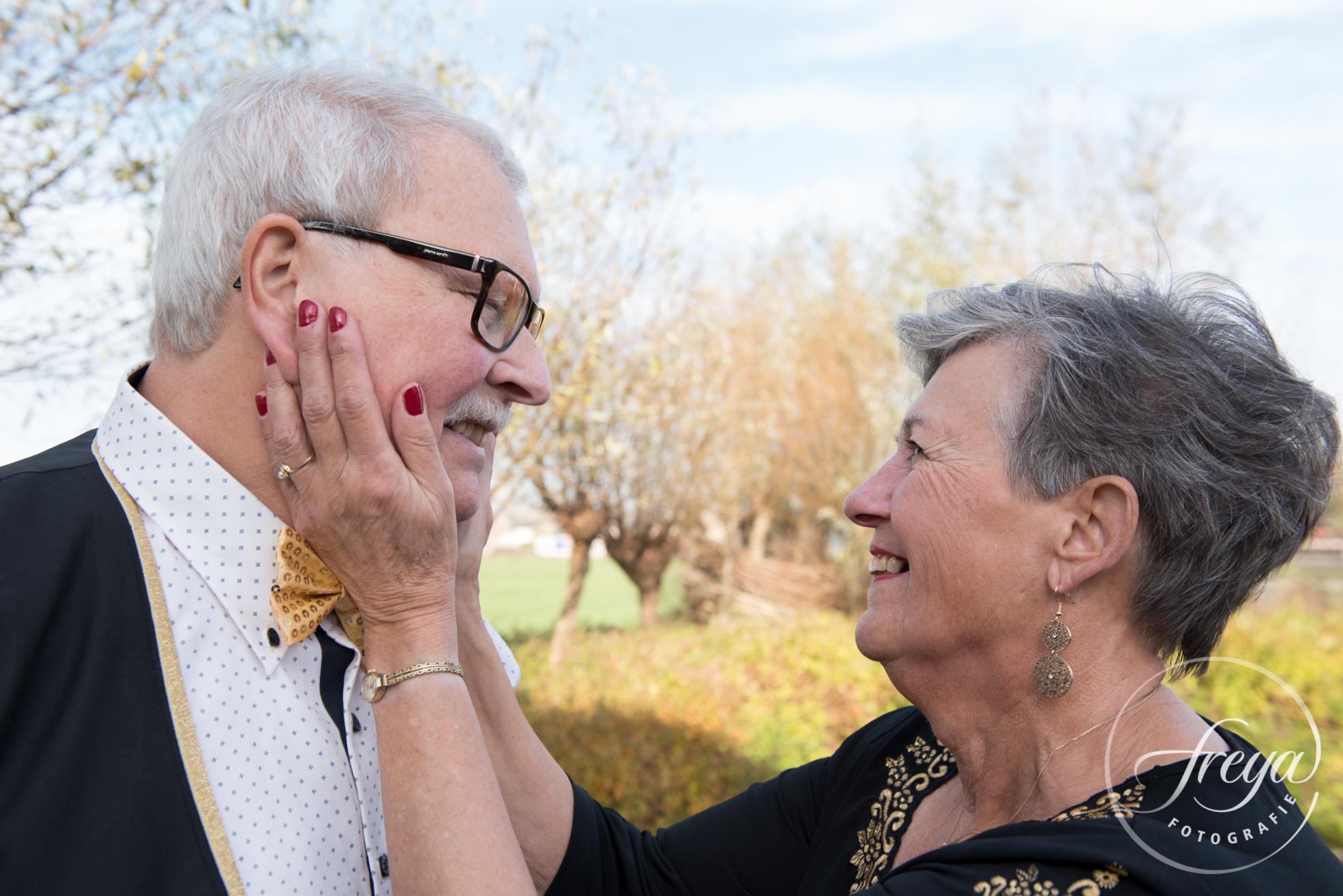 Portret echtpaar tijdens gouden jubileum