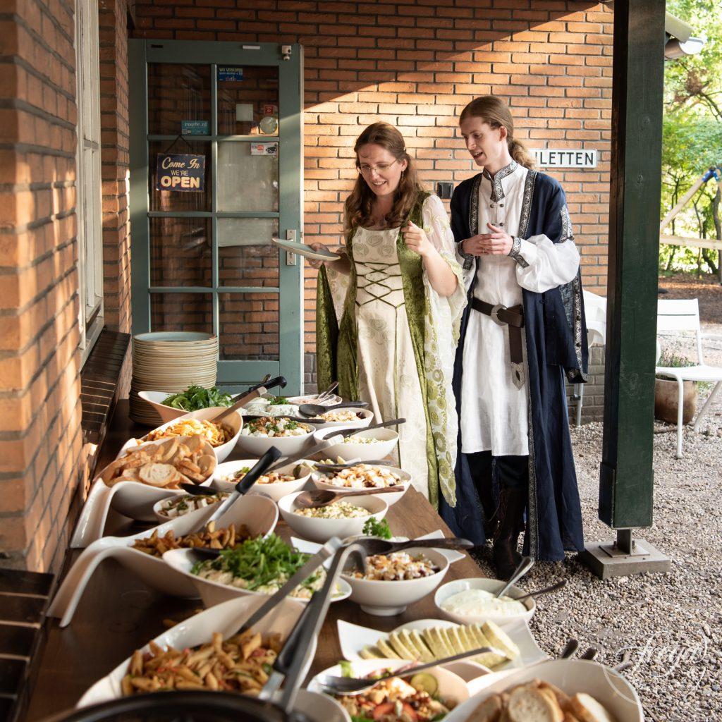 Vegetarisch buffet bij 't Bluk